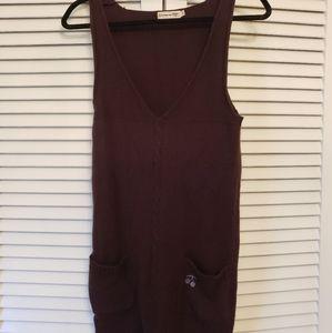 Le Temps des Cerises Sweater Dress Brown SZ S